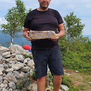 Jiří Gryz na vrcholu Magurka Radziechowska (26.7.2020 10:52)