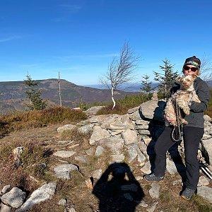 Magda na vrcholu Magurka Radziechowska (15.11.2020 11:54)