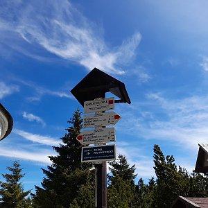 Milan Meravy na vrcholu U Kunštátské kaple (9.5.2021 11:10)