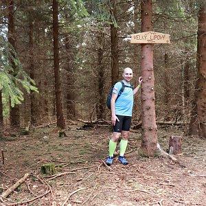 Czylok Pavel na vrcholu Velký Lipový (7.4.2018 12:27)