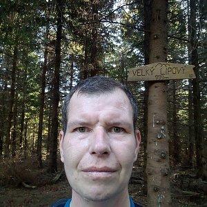 Michal Krčmář na vrcholu Velký Lipový (26.10.2019 14:08)