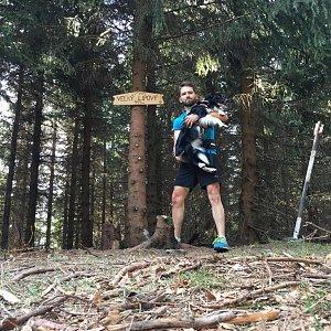 Jan Janiš na vrcholu Velký Lipový (22.4.2018 9:47)