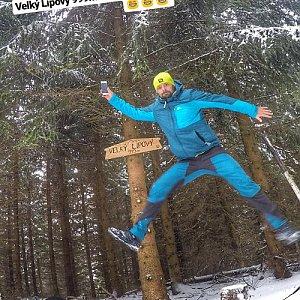 Pvlzck na vrcholu Velký Lipový (19.1.2018 8:19)