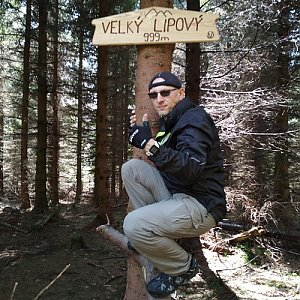 Aleš Sýkora na vrcholu Velký Lipový (5.5.2018 11:54)