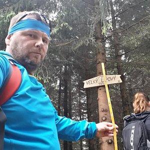 Martin a Jana Halamíčkovi na vrcholu Velký Lipový (20.5.2018 11:27)