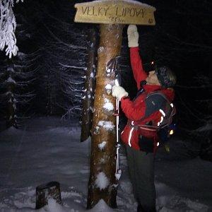 Hanka na vrcholu Velký Lipový (29.12.2018 17:37)