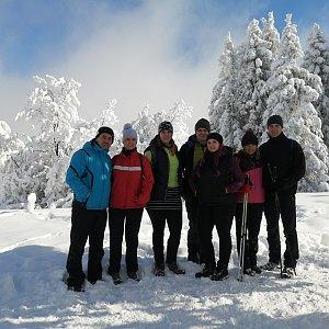 Jan Juchelka na vrcholu Velký Lipový (14.2.2021 13:00)