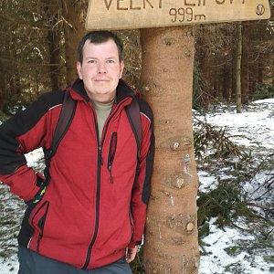 Michal Krčmář na vrcholu Velký Lipový (17.3.2019 15:04)