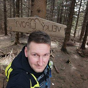 Jiří Tomaštík na vrcholu Velký Lipový (6.5.2021 11:31)