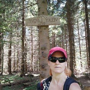 Ivana Urbánková na vrcholu Velký Lipový (6.7.2021 11:03)
