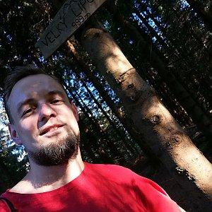 Jan Zamarski na vrcholu Velký Lipový (30.7.2021 18:06)