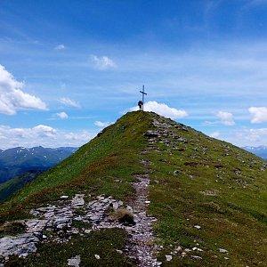 Martin na vrcholu Hochschwung (3.7.2021 8:25)