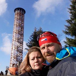 Martin a Jana Halamíčkovi na vrcholu Vartovna (21.11.2020 12:45)