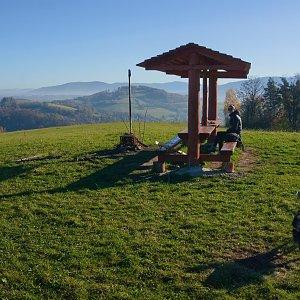 Michaela Hilscherová na vrcholu Na Magoni (8.11.2020 9:50)