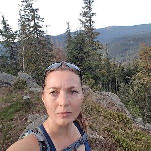 Marcela Kubíčková na vrcholu Pytlák (20.9.2020 8:30)