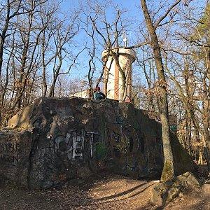 Martin Matějka na vrcholu Ládví (28.3.2021 17:40)