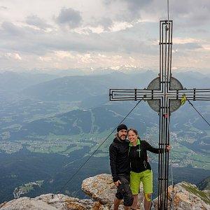 Iveta Steinerová na vrcholu Ellmauer Halt (20.7.2019 7:30)