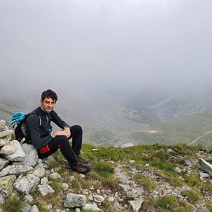 Ondra Horáček na vrcholu Zbojnická kopa (23.7.2021 16:38)