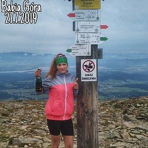 Zde Nka na vrcholu Babia Hora (27.7.2019 12:16)