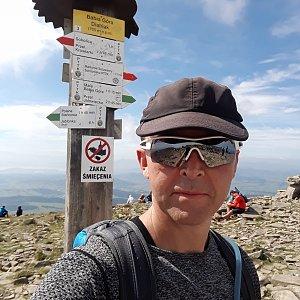 Pavel Skřičík na vrcholu Babia Hora (10.8.2019 10:30)