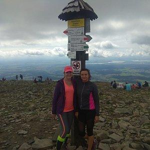 Renča Šin na vrcholu Babia Hora (11.8.2019 17:33)