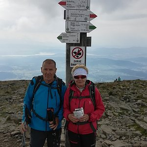 MUDr.Svatopluk Kunčar na vrcholu Babia Hora (16.8.2019 10:05)