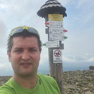 Radim Škrabánek na vrcholu Babia Hora (20.8.2019 10:25)