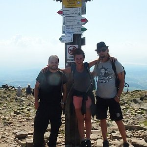 Jiří Chmiel na vrcholu Babia Hora (1.9.2019 12:02)