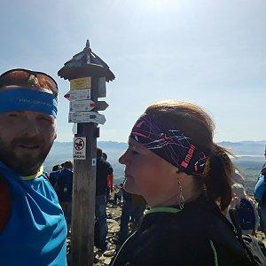 Martin a Jana Halamíčkovi na vrcholu Babia Hora (15.9.2019 11:26)