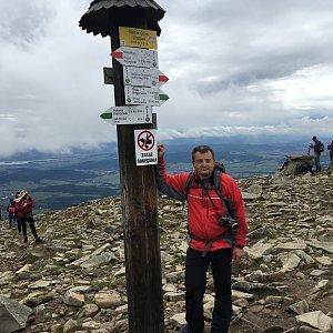 Jarek na vrcholu Babia Hora (28.9.2019 11:59)