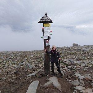 Ilona Mušálková na vrcholu Babia Hora (28.9.2019 16:10)