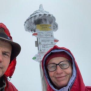 Kamila  Petrová na vrcholu Babia Hora (5.10.2019 14:10)