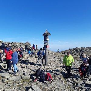 Marek na vrcholu Babia Hora (26.10.2019 11:10)
