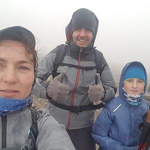 Marcela Kubíčková na vrcholu Babia Hora (3.11.2019 12:45)