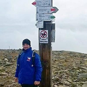 David Bunny Beil na vrcholu Babia Hora (28.10.2019 12:00)