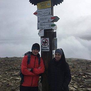 Antonie na vrcholu Babia Hora (28.10.2019 11:30)