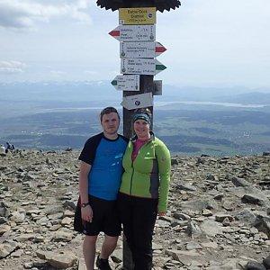 Janča na vrcholu Babia Hora (28.4.2018 13:07)