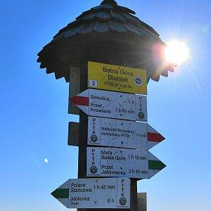 Radka Nezvalová na vrcholu Babia Hora (6.11.2018 12:46)