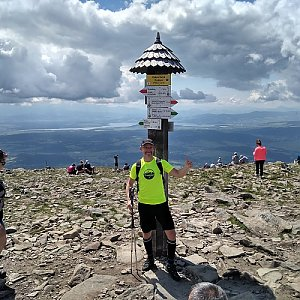 Petr Bartoň na vrcholu Babia Hora (17.6.2018 11:17)