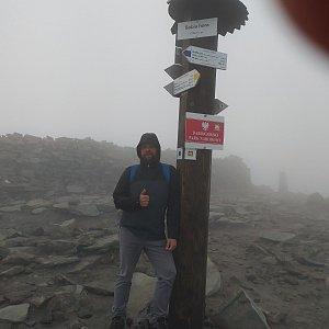 Petr Zajac na vrcholu Babia Hora (29.5.2020 19:44)