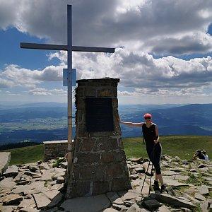 Michelle Sýkorová na vrcholu Babia Hora (5.7.2020 15:00)