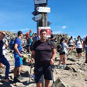 Jiří Gryz na vrcholu Babia Hora (2.8.2020 10:28)