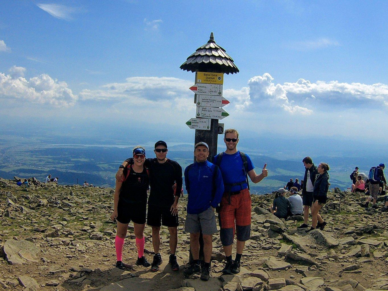 Petr Papcun na vrcholu Babia Hora (18.8.2018 12:30)