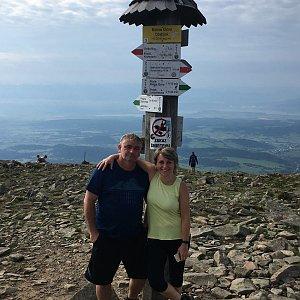 V+R na vrcholu Babia Hora (15.8.2020 8:50)