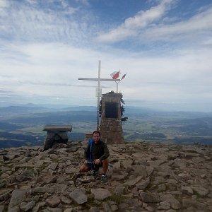 Bartek_na_cestach na vrcholu Babia Hora (26.8.2020 9:27)