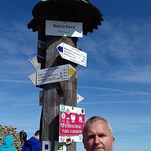 Michael na vrcholu Babia Hora (18.9.2020 13:00)