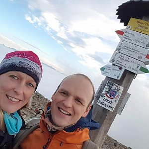 Michaela Karásková na vrcholu Babia Hora (1.11.2020 15:20)