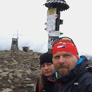 Martin a Jana Halamíčkovi na vrcholu Babia Hora (17.11.2020 10:56)