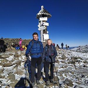 Sparkler na vrcholu Babia Hora (22.11.2020 0:52)