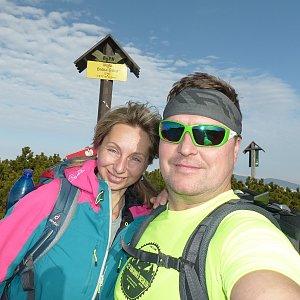 filipka na vrcholu Babia Hora (3.11.2018 14:02)